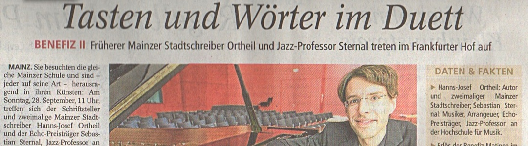 Foto Interviewausschnitt Sebastian Sternal in der Allgemeinen Zeitung